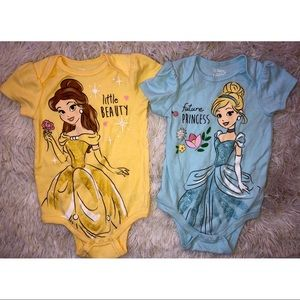 (2)Disney baby princess onesies
